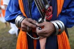 Nihang Sikh pageantry on display at the annual Hola Mohalla fair