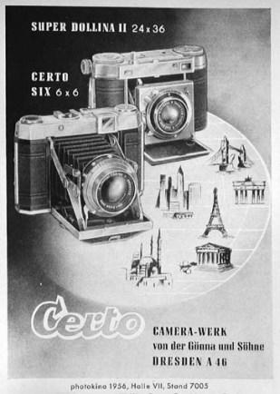 Ad for Certo Six camera