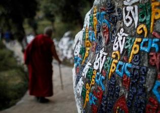 Kora around the Dalai Lama's residence