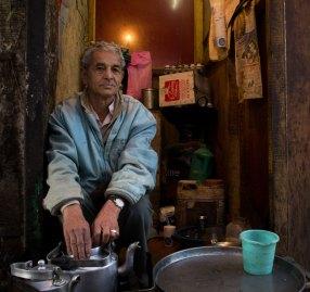Indian chai wala or tea seller