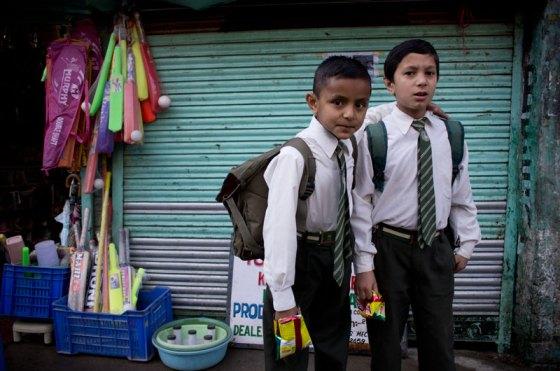 Indian schoolboys