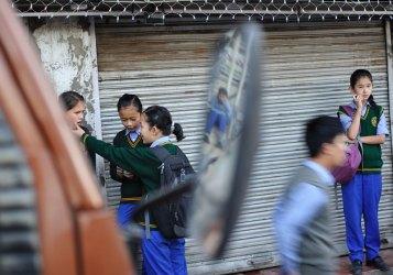 Tibetan refuge schoolchildren