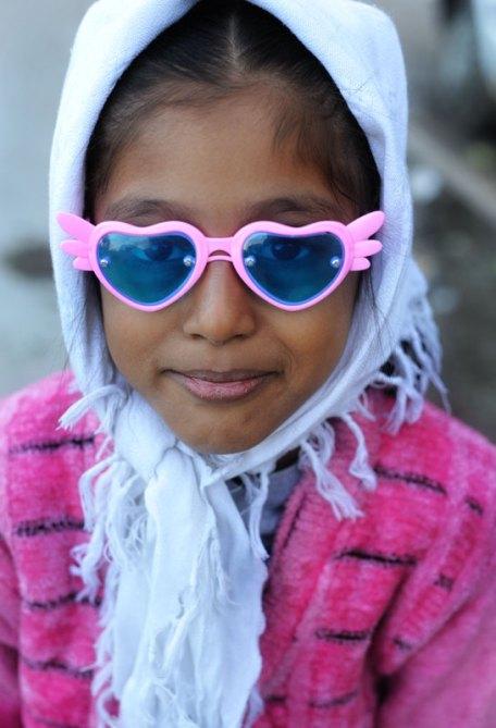Indian girl in funny glasses
