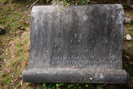 Gravestone in the cemetery of the Church of St John in the Wilderness, McLeodganj, Dharamshala, India. Photo by Angus McDonald