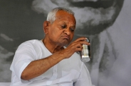 Indian anti-corruption campaigner Anna Hazare. Photo by Tsering Topgyal.