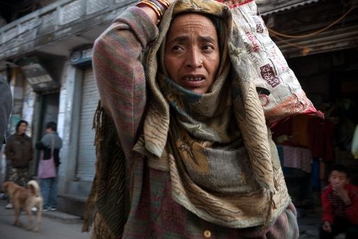 Gaddi woman in McLeodganj, Dharamshala, India. Photo by Angus McDonald