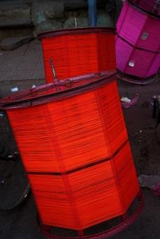 Kite string for sale in Baroda, Gujarat, India ahead of the annual Uttarayan, or Makar Sakranti, kite flying festival. Photo by Angus McDonald