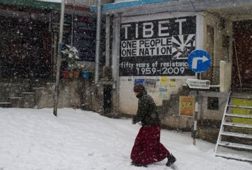 Snowfall in McLeodganj, Dharamshala, January 2012. Photo by Ashwini Bhatia