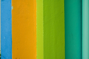 Brightly painted wall at Male, Maldives. Photo by Angus McDonald