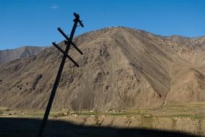 Landscape between Dushanbe and Panjikent, Tajikistan. Photo by Angus McDonald