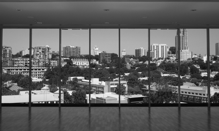 View of Woolloomooloo and Kings Cross, Sydney from the Art Gallery of NSW. Photo by Angus McDonald