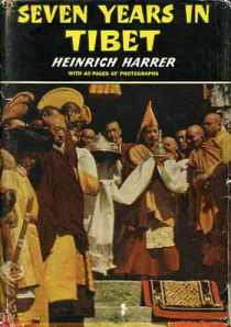 Early cover of Seven Years in Tibet by Heinrich Harrer