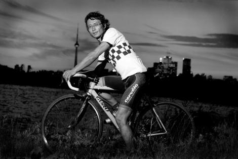 Jangchup, Tibetan bicycle mechanic, Toronto. Photo © Tenzin Dorjee
